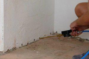 Assèchement des murs par injection en rez-de-chaussée !