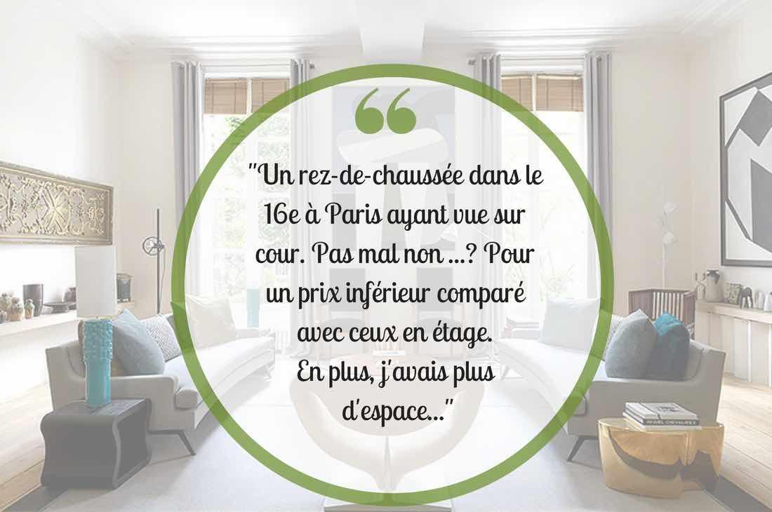 Venez découvrir un rez-de-chaussée à Paris 16e