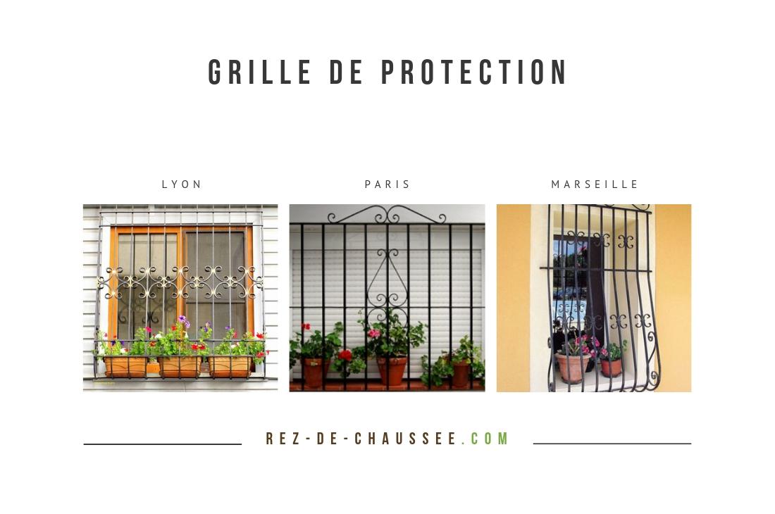 Grille de protection en rez-de-chaussée